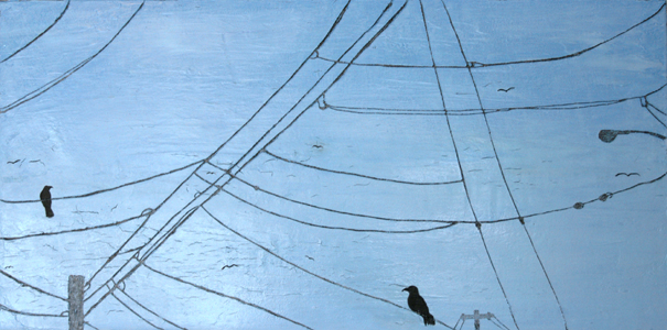 Wires Four | 15 x 30 | Oil On Canvas | Jan 06 | SOLD
