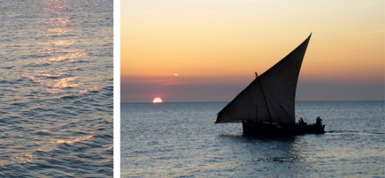 A dhow at sunset - Zanzibar, Tanzania