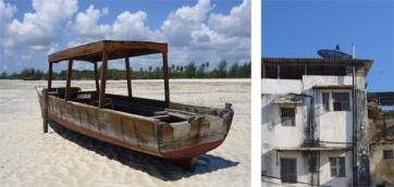Boat at low tide - Paje - Zanzibar   Stone Town - Zanzibar, Tanzania