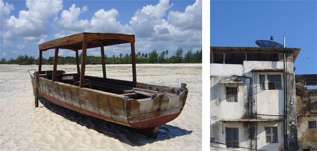 Boat at low tide - Paje - Zanzibar | Stone Town - Zanzibar, Tanzania