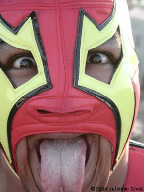 The infamous Luchador -- Mexican fighter -- rarely captured on film. Thank you, Akuma for letting me steal a bit of your soul.
