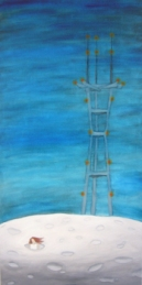 SOLD- Moon Tower | 15 x 30 | oil on canvas | Feb '07