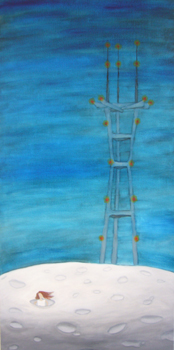 SOLD- Moon Tower   15 x 30   oil on canvas   Feb '07