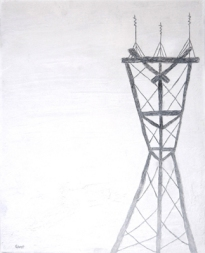 Wires 13 'Tower'   16x20   Oil on Canvas   Mar '06   SOLD