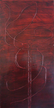"""Wire 17 """"Whip""""   30x15   Oil On Canvas   Nov '06"""