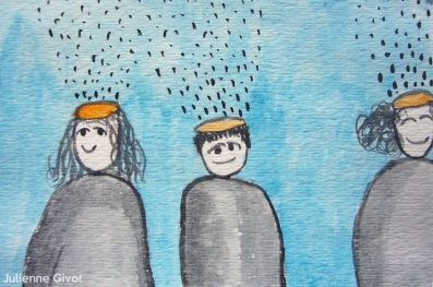 """Don't you Forget About Me   4.5"""" x 3""""   watercolor on paper"""