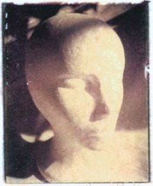 Head   polaroid transfer on cotton paper