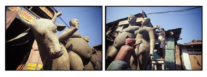 Working Artisans - Artisan Village, Kolkata, India   2002
