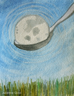 "Moon In A Spoon | 5"" x 3.75"" 