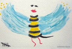 "Mrs. Bird Bee | 5"" x 3.5"" 