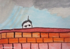"""Poor Boy   3.5"""" x 2.5""""   watercolor on paper   2014"""