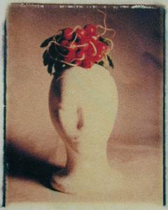 Radish Head   polaroid transfer on cotton paper