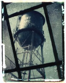 Water Tower Durant Square   polaroid transfer on cotton paper