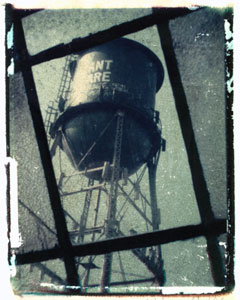 Water Tower Durant Square | polaroid transfer on cotton paper