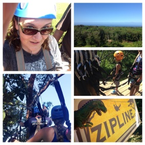 Zipline adventure in the canopy above Haiku. So much fun!