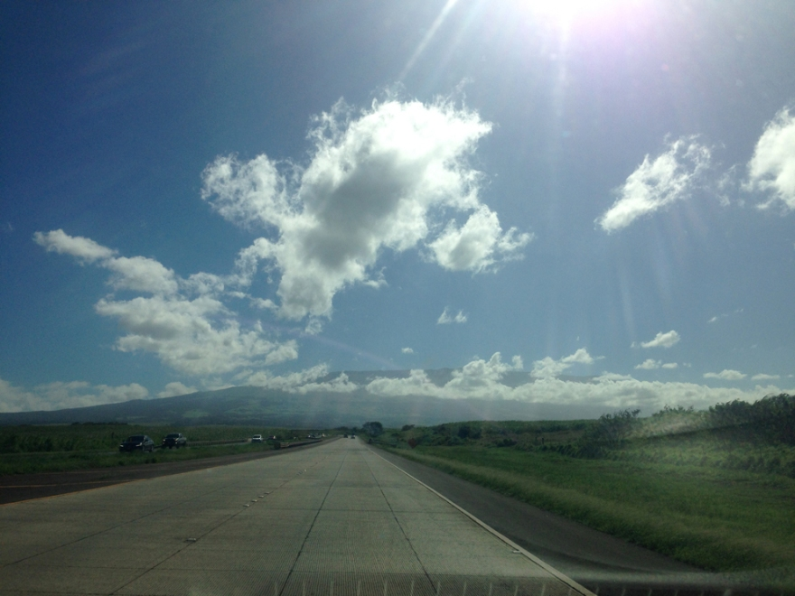 The highway to upcountry towards the top of the Haleakala Crater.