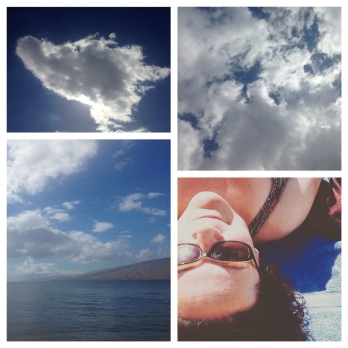 Cloudbusting on the beach.