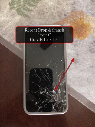 The one time my iPhone didn't bounce. :(