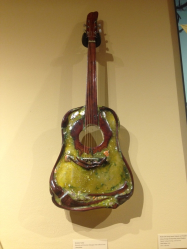 My Uncle Peter has one of his creations in the Museum of Ventura County and we had a chance to visit and oogle the musical instruments and artwork.